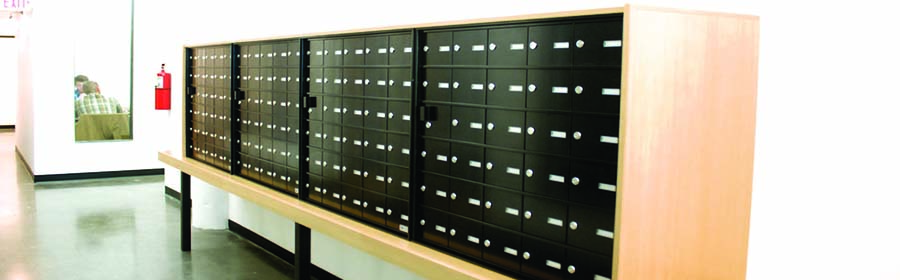 work mailbox offices full paper slots image office for with sorter adjustable wood and metal custom mail mailboxes