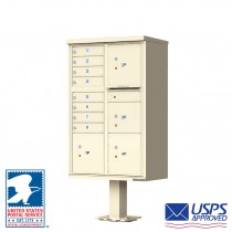 8 Tenant Cluster Box Unit with 4 Parcel Lockers