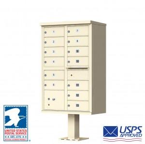 13 Tenant Cluster Box Unit in Sandstone