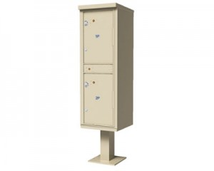 Outdoor Parcel Locker with 2 Compartments
